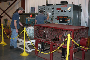 With our 400 HP A&W Dynamometer Load Test Center, we check motors for performance after rebuild.