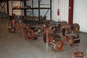 AC stators ready for assembly.
